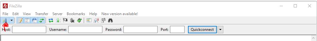 FileZilla Server / Seite Hinzufügen